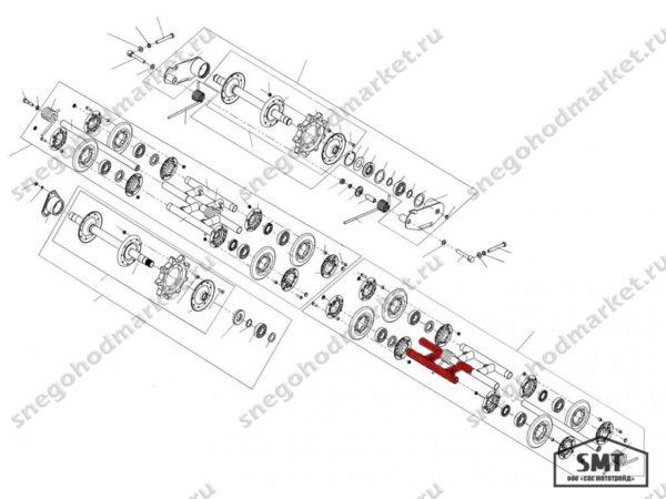 Рамка тележки 110200060 схема Буран