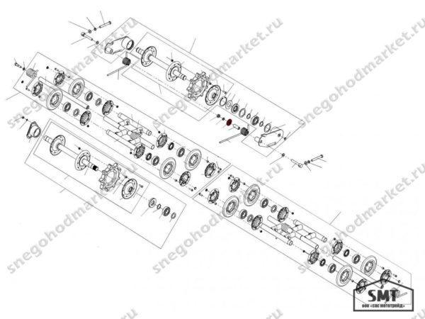 Шайба упорная 110200028 схема Буран