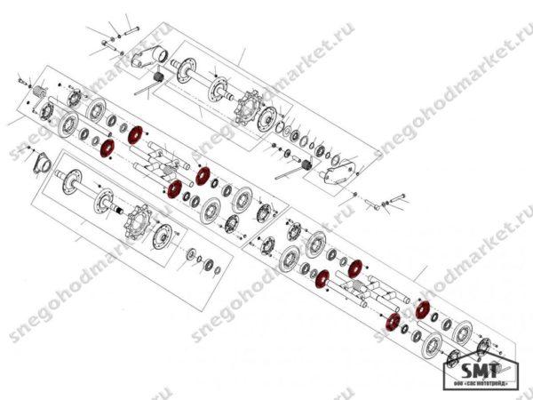 Щека внутренняя 110200168 схема Буран