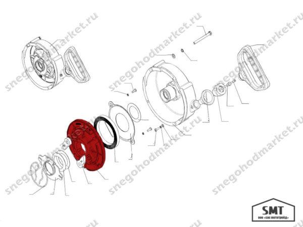 Шкив ручного стартера 110501136 схема Буран