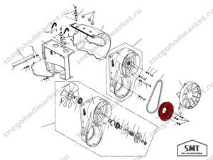 Шкив вентилятора 110500256 схема Буран