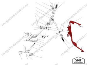 Стойка рулевого управления 110300470 схема Буран