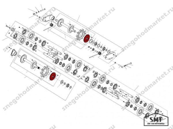 Ступица наружная 110200130 схема Буран