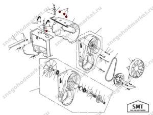 Заглушка кожуха двигателя 110501095 схема Буран