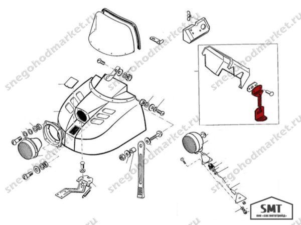Замок пружинный 110700160 схема Буран