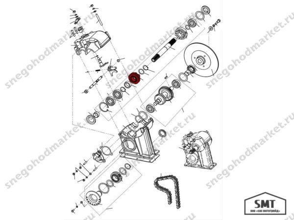 Звездочка ведущая 110602102 схема Буран