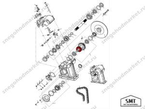 Звездочка заднего хода 110602052 схема Буран