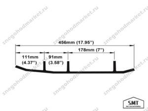 Коньки лыж Blade BRP Lynx 605349378 схема